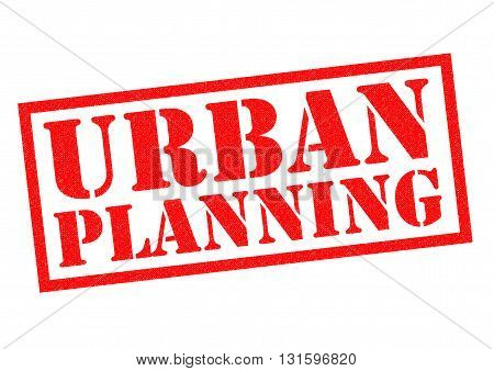 URBAN PLANNING red Rubber Stamp over a white background.