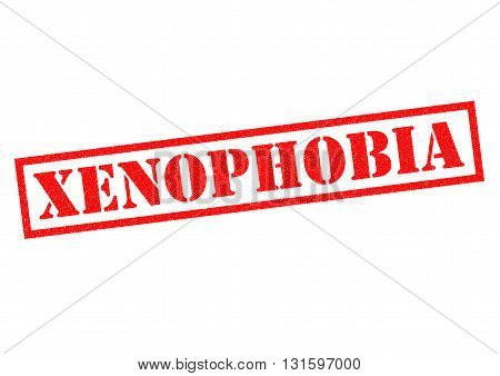 XENOPHOBIA red Rubber Stamp over a white background.