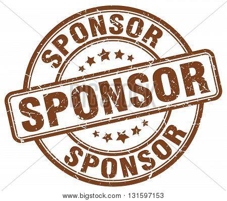 sponsor brown grunge round vintage rubber stamp.sponsor stamp.sponsor round stamp.sponsor grunge stamp.sponsor.sponsor vintage stamp.