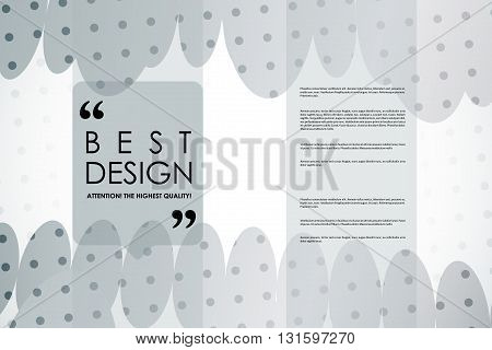 Set of brochure, poster templates in abstract background style. Beautiful design and layout