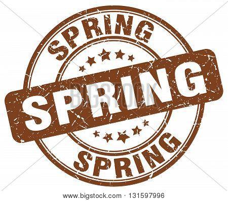 spring brown grunge round vintage rubber stamp.spring stamp.spring round stamp.spring grunge stamp.spring.spring vintage stamp.