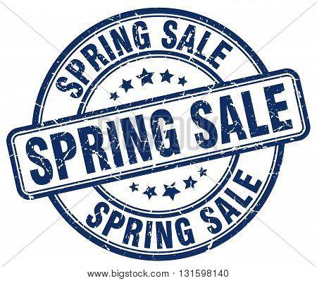 spring sale blue grunge round vintage rubber stamp.spring sale stamp.spring sale round stamp.spring sale grunge stamp.spring sale.spring sale vintage stamp.