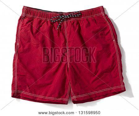 Red Swim Trunks