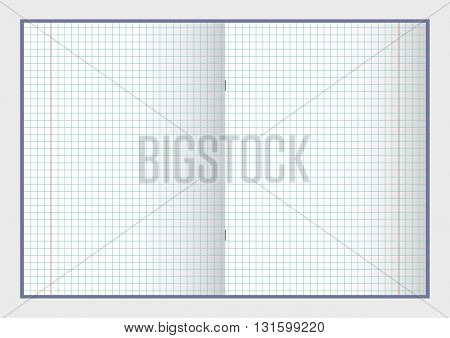 Open notebook with pages vector illustration EPS 10 for your design and business