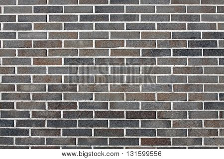 Brown brick wall texture in horizontal view