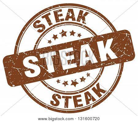 steak brown grunge round vintage rubber stamp.steak stamp.steak round stamp.steak grunge stamp.steak.steak vintage stamp.