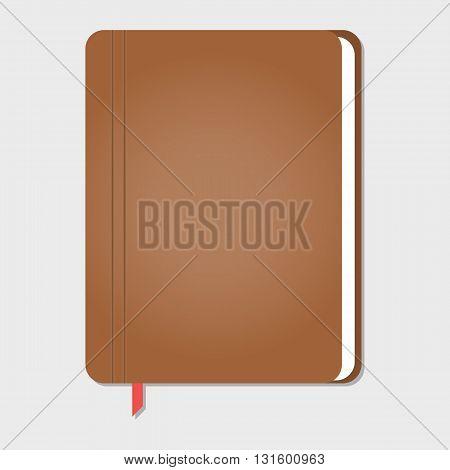 realistic stylish notebook vector illustration, eps 10