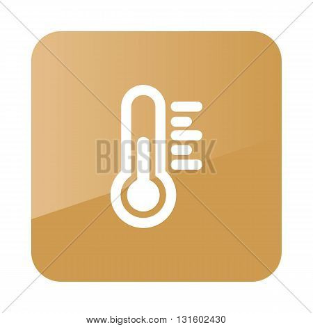 Thermometer Heat outline icon. Meteorology. Weather. Vector illustration eps 10