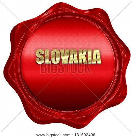 slovakia, 3D rendering, a red wax seal