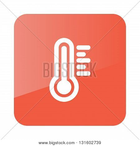 Thermometer Heat Hot outline icon. Meteorology. Weather. Vector illustration eps 10