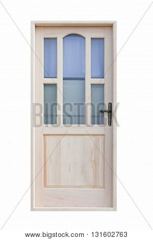 Door With Glass Isolated Included Clipping Path