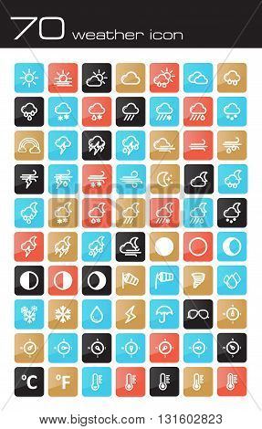 Meteorology Weather icons set vector illustration eps 10