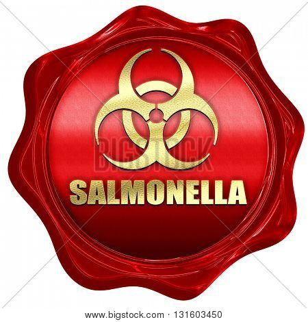 Salmonella concept background, 3D rendering, a red wax seal