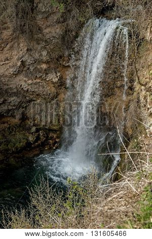 Waterfall  in mountain Lisine in Serbia in spring