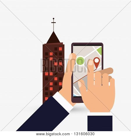 GPS concept with icon design, vector illustration 10 eps graphic.