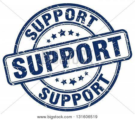 support blue grunge round vintage rubber stamp.support stamp.support round stamp.support grunge stamp.support.support vintage stamp.