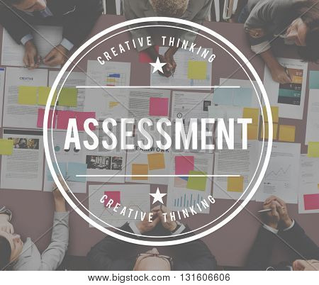 Assessment Management Check Control Evaluation Concept