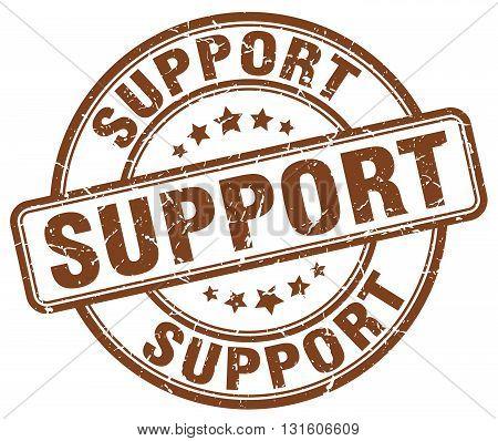 support brown grunge round vintage rubber stamp.support stamp.support round stamp.support grunge stamp.support.support vintage stamp.