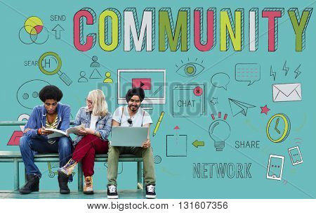 Community Society Sharing Communication Belonging Concept