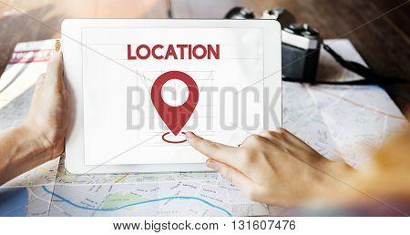 Location Direction Navigation Destination Exploration Concept
