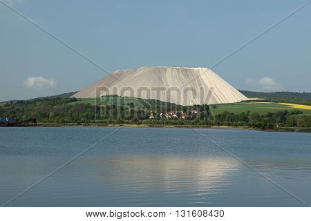 A Mountain of Salt from a Salt Mine in Germany