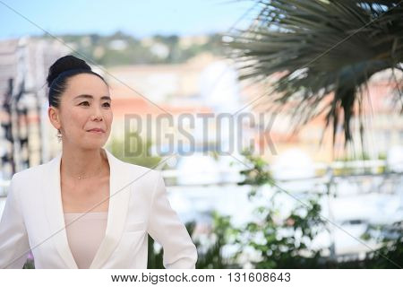 CANNES, FRANCE - MAY 19: Naomi Kawase attends the Jury De La Cinefondation & Des Courts Metrages Photocall during the 69th  Cannes Film Festival at the Palais  on May 19, 2016 in Cannes, France.