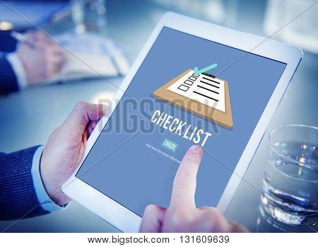 Checklist Choice Decision Document Mark Concept