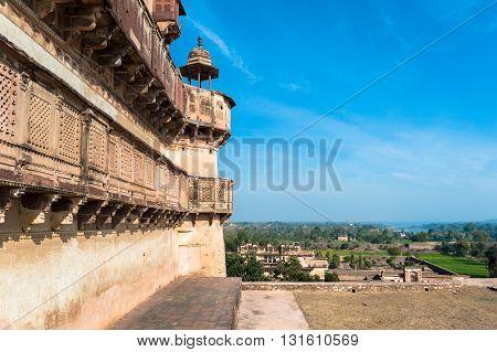 Jahangir Mahal in Orchha, Madhya Pradesh, India