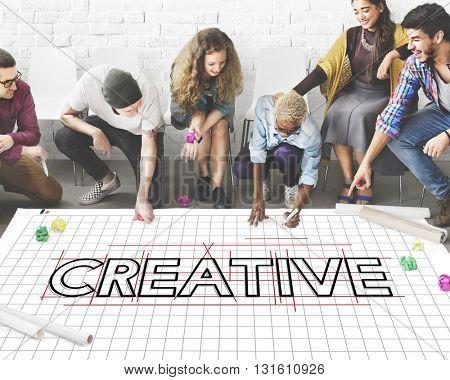 Creative Ideas Design Draft Graphic Concept