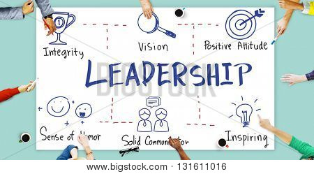Leadership Success Skills Drawing Graphic Concept