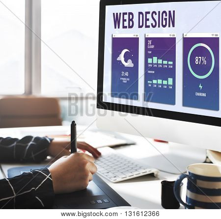 Web Design Mobile Interface Layout Concept