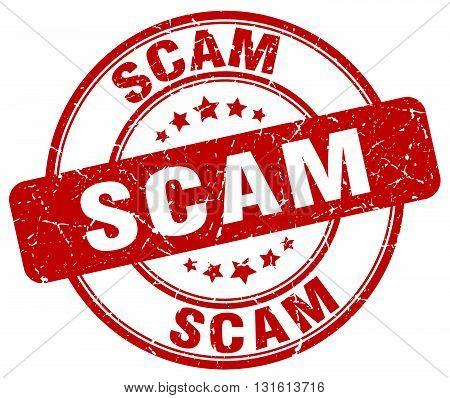 scam red grunge round vintage rubber stamp.scam stamp.scam round stamp.scam grunge stamp.scam.scam vintage stamp.