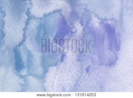 grunge cold tones blue abstract watercolor background