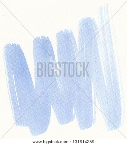 zigzag blue brush stroke abstract watercolor textures on white background