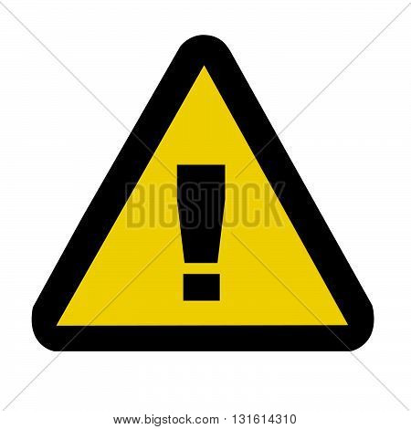 Warning danger sign isolated on white background