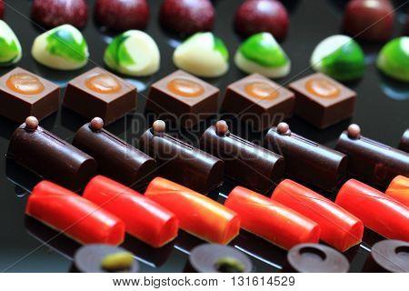 Chocolate Bonbons Background