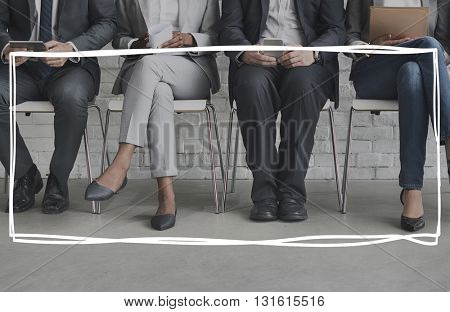 Business People Team Frame Graphic Concept