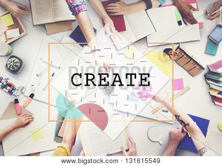 Create Creative Thinking Ideas Imagination Innovation Concept