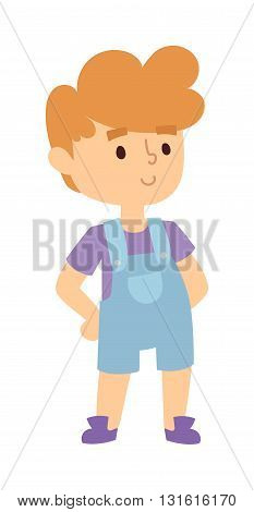 Boy portrait fun, expression and cute boy portrait vector illustration. Boy portrait teenager cartoon character and happyness little boy portrait. Human cheerful joy casual childhood life.