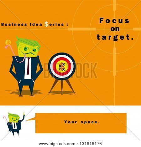Business Idea series Focus on target , vector , illustration