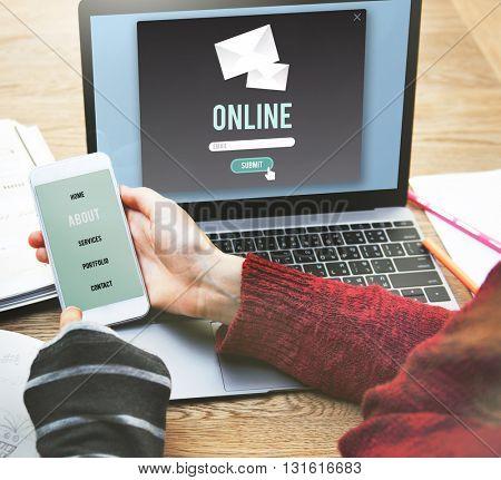 Online Connection Internet Network Social Media Concept