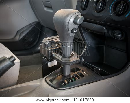 Iron lock on automatic gear shift. Safety