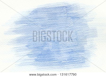 abstract horizontal blue brush stroke abstract background