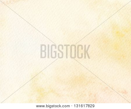 high key faded light tones yellow abstract watercolor background