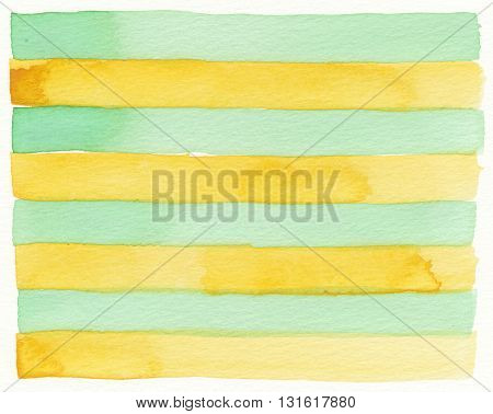 faded layers stripe yellow green watercolor background