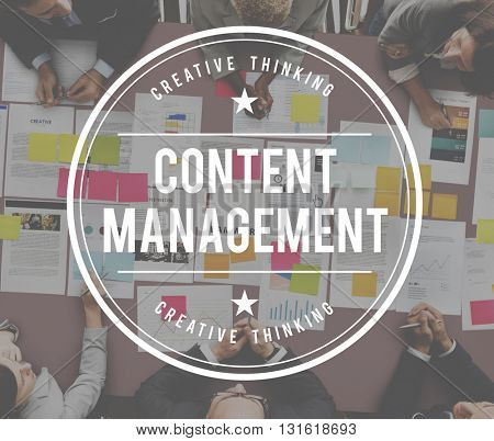 Content Management Social Media Network Concept