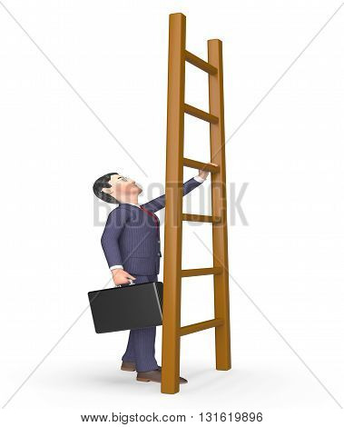 Challenge Ladder Indicates Hard Times And Advance 3D Rendering