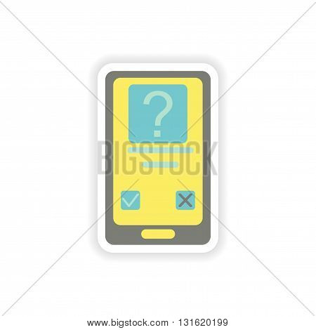 paper sticker on white background  Mobile Phone SMS