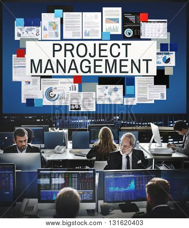 Project Management Methods Processes Concept