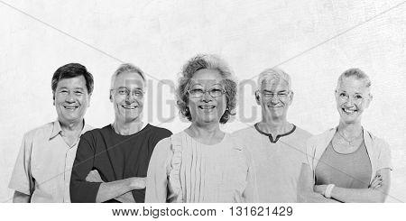 Mullti-ethnic Senior Group of People Concept